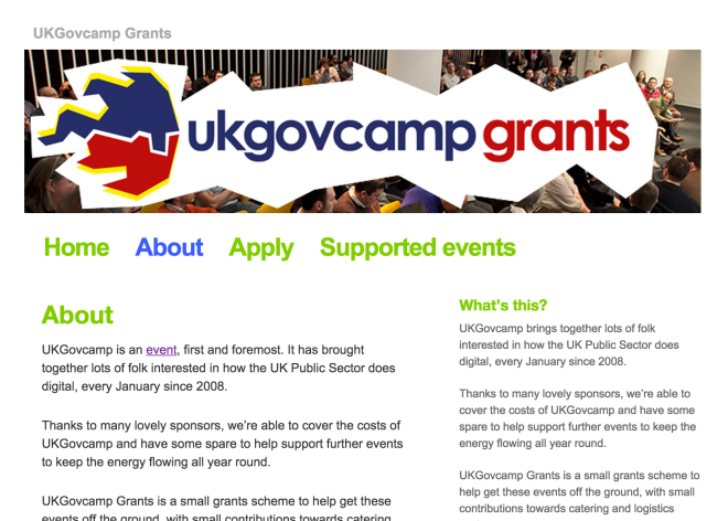 UK Govcamp web page