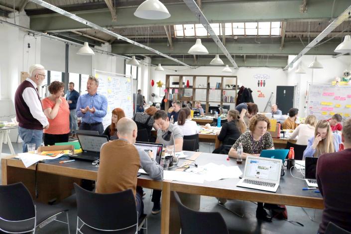 Kevin Cunnington, Business Transformation Group, shows support for Leeds GovJam